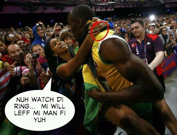 Funny Jamaica: Usain Gets Some Married Groupie Love
