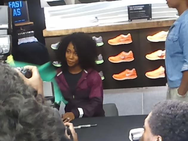 Celebrity: Shelly Ann Fraser-Pryce Sprints In New York City
