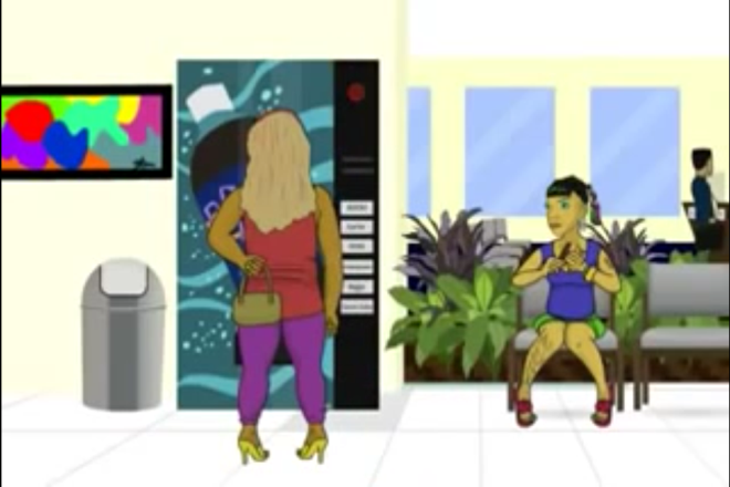 Jamaican Vending Machine Cartoon