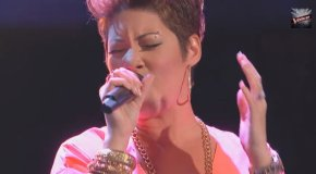 Tessanne Chin Picks Team Adam On The Voice, Trends Again On Twitter And Has Jamaicans In AFrenzy!!