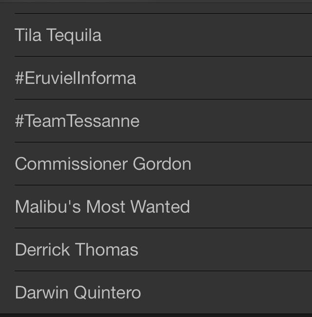 Tessanne Trending Twitter 2