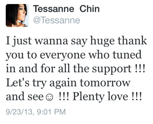 Tessanne Tweet The Voice