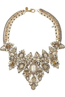 Erickson Beamon Gold Plated Crystal Necklace