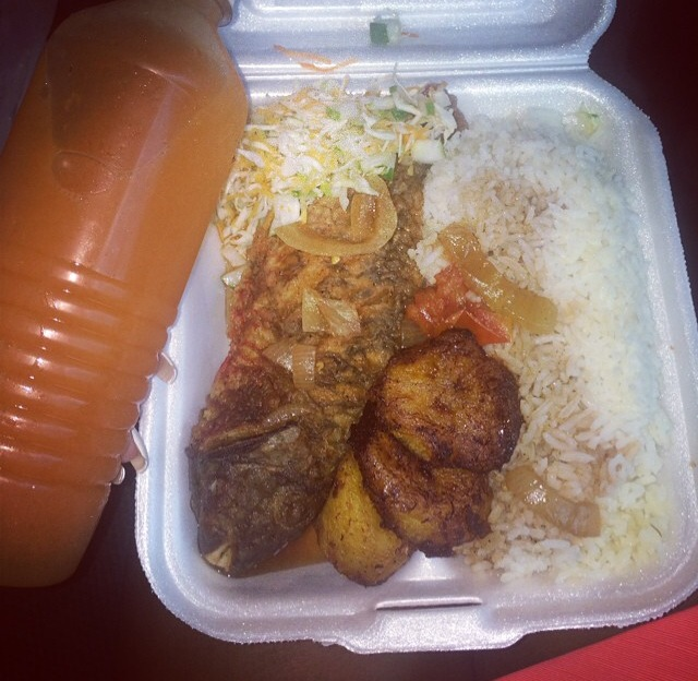 A Fish box lunch ... true Kingston style.