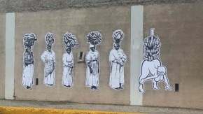 Leasho Street Art Strikes Again .. This Time In New Kingston