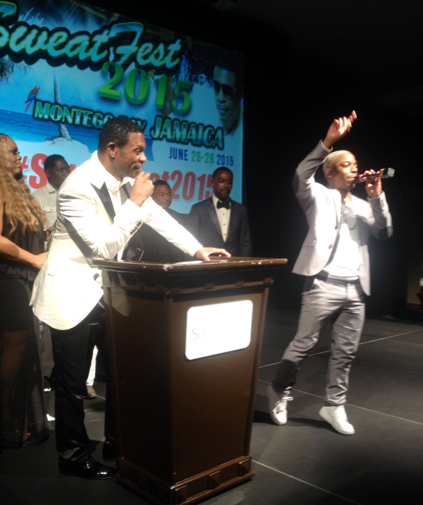 Sisqo of R&B group Dru Hill thanking Keith Sweat for all help he has giving him and the group.