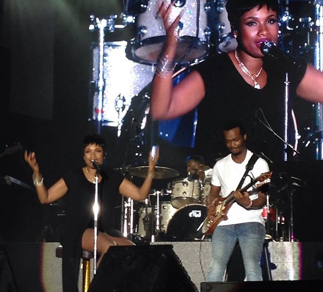 Jennifer Hudson performing at Reggae Sumfest 2015