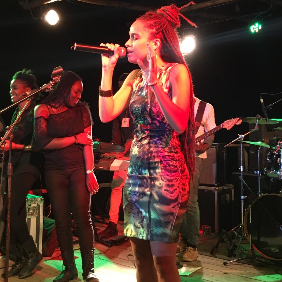 The beautiful Kelissa performing at Wickie Wackie Music Festival