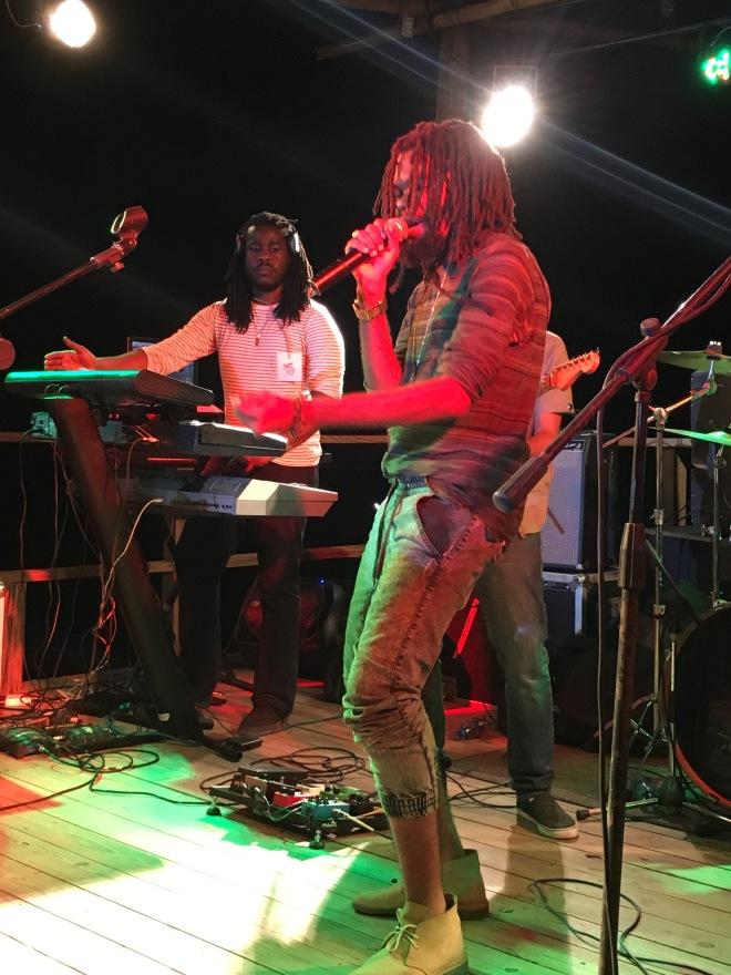 Rising radical reggae artist Dre Island at the Wickie Wackie Music Festival
