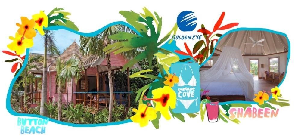 GoldenEye Beach Huts Logo