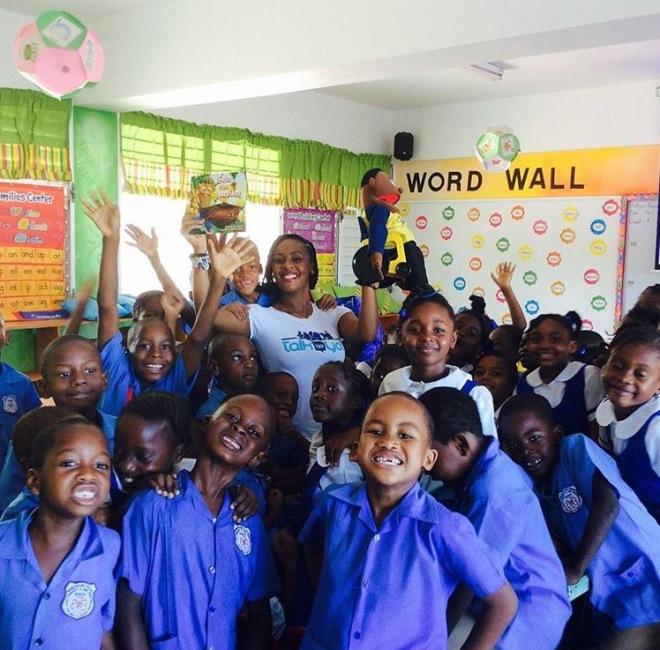 Emprezz brings Ackee Walk to a school in Kingston.