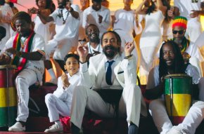 Watch!!! Damian Marley Teach His Son About His Roots With Living It Up